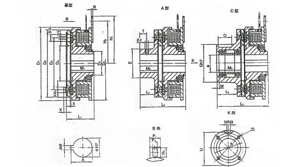 DDL3 系列 单片电磁离合器 DDL3系列单片电磁离合器只有一对摩擦付,它具有结构简单,安装方便,工作频率高,动作灵敏,无空载力矩,噪声低等特点,广泛应用于印刷,造纸,包装,医疗,建筑,纺织,船舶,办公机械,计算机外围设备,仪表,通讯等机械传动系统中完成离合、换向、变速、制动、定位等功能。 离合器在下列条件下能可靠的工作: 1.