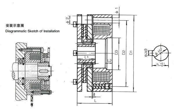一、主要用途    主要用于快速制动,准确定位,断电保护场合。 DHM3-C和DHM3-S两派生系列主要与YEJ系列及其他系列电动机配套成一种新型的电磁制动三相异步电动机,制动器线圈的励磁直流电压为99V(制动力矩30Nm)和17 V(制动力矩>30Nm)有专为制动器配套的整流装置。 DHM4系列主要为电动滚筒制动而设计生产的,同时在机床,搬运机械、包装机机械。及其他系统中也表现出很好的功效。 DHM5、DHM6系列先应用于数控机床等精密设备上。 二、制动器在下列条件下能可靠工作 1.制动器安装地点海