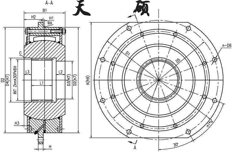DC系列卷筒用联轴器