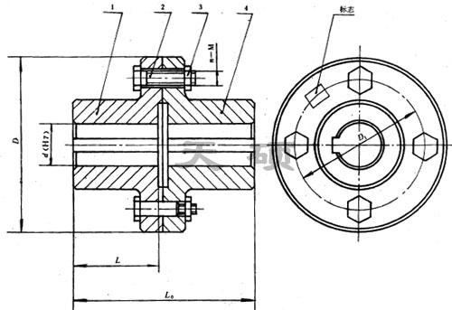 凸缘联轴器